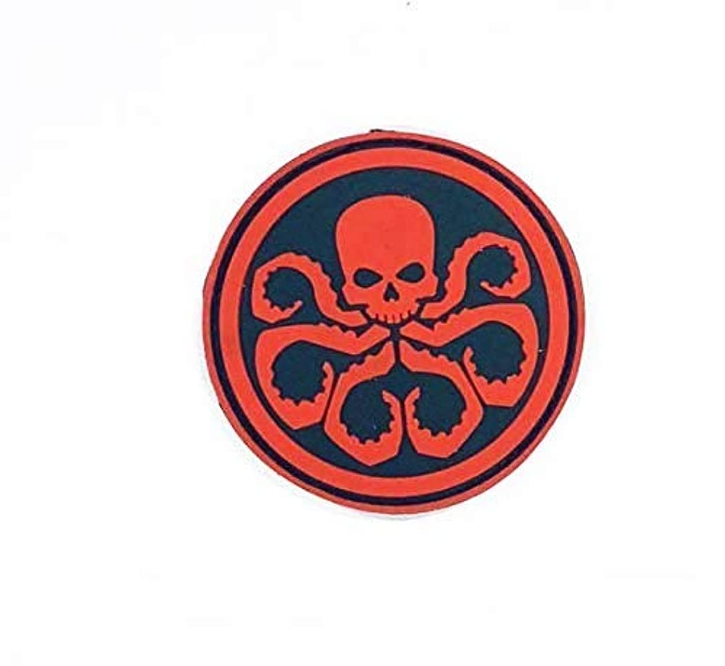 MORTHOME Morale Patch Avengers Hydra Tactical Military Morale 8 cm 3D PVC Patches