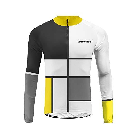 Uglyfrog Ropa de Bicicleta Hombre MTB Ciclismo Mangas Largas Maillot Equipación de Ciclista, Talla XS-4XL ACXMX06