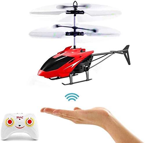 RC-Hubschrauber, Ferngesteuerter Hubschrauber mit Gyro- und LED-Licht, Mini-Fernhubschrauber für Kinder, Indoor-Flugspielzeug