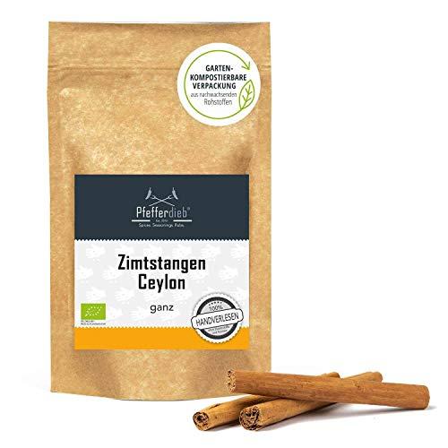 Ceylon Zimt, Zimtstangen 6 cm, 100{61049d3a34b96b7a7b2e7985b8101b314886972fb0fd198031eb4bd96e055715} echtes Zimt direkt und erntefrisch aus Sri Lanka, 20 Stck. - Pfefferdieb®