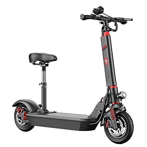 ZDW Bicicleta eléctrica Scooter eléctrico para adultos, 500W Motor Plegable E-Scooter para...