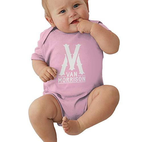 Johnson Hop Van Morrison Strampler für Neugeborene, Mädchen, Jungen, kurze Ärmel, rose, (0-3M)UK