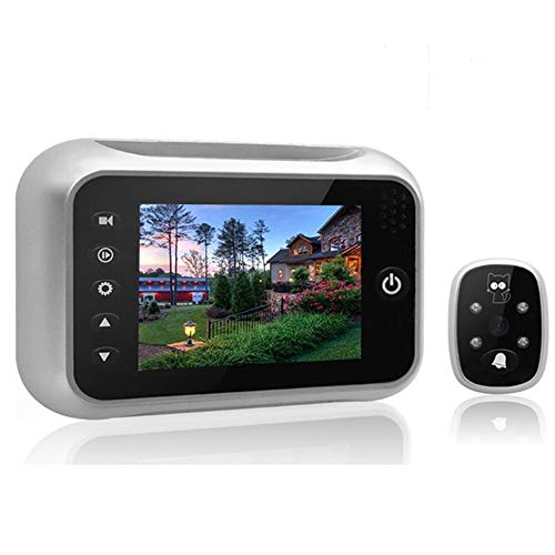 digitharbor Video Door Scope Viewer digital peephole viewer door camera outdoor Security Cam Door Open Chime 3 inches Color TFT LCD Screen 120 degrees Wide View Angle with 8G Micro SD memory Card
