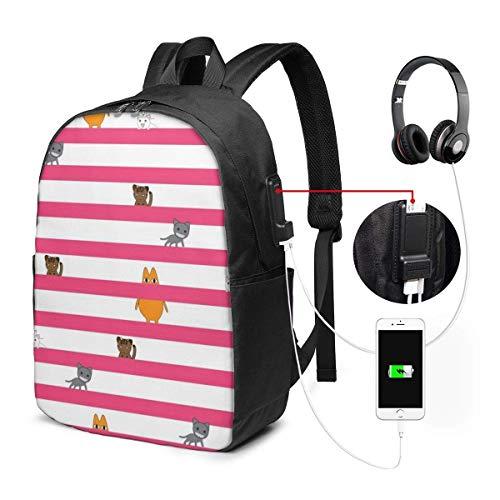 Lawenp Azumanga Daioh Cats - Mochila de Viaje para computadora portátil, antirrobo...