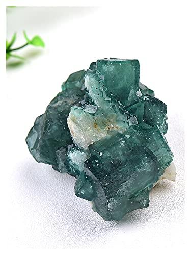 JSJJAWA lámpara de Pared 1 PC Piedra Natural Verde fluorita Mineral Cristal Muestra Cluster Mineral Cristal muestras Piedras Salud energía sanación Piedra (Farbe : Green Fluorite, Größe : 170-200g)