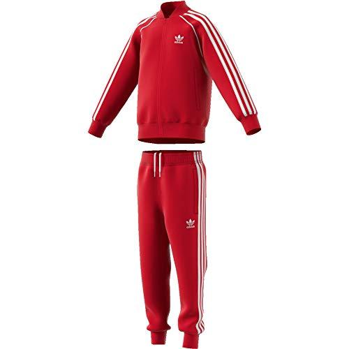 adidas Kinder Superstar Suit Tracksuit, Scarlet/White, 6-7Y