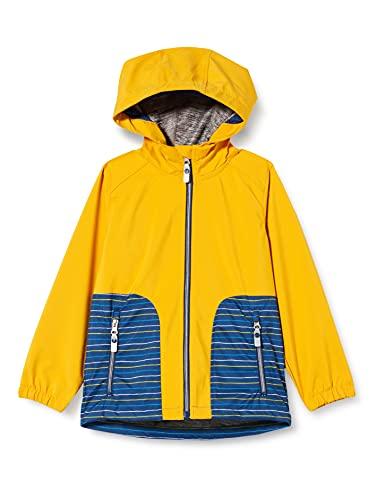 Killtec Baby-Mädchen Joylily MNS Softshell JCKT Softshelljacke mit Kapuze, gelb, 98/104