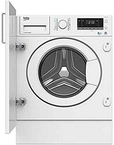 Beko HITV8733B0 Integrado Carga frontal A Blanco lavadora -...