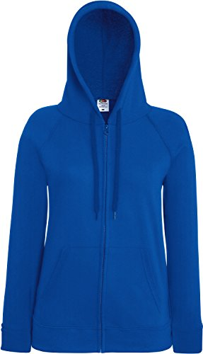 Fruit of the Loom Lady-Fit Lightweight Hooded Sweat Jacket 62-150-0 L,Royal Blue