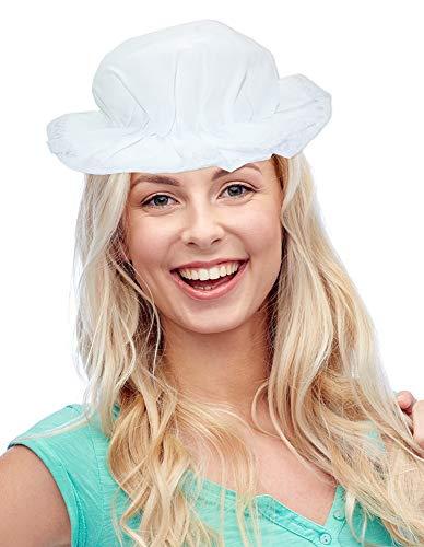 Das Kostümland Schlafhaube für Erwachsene - Weiß - Schlafmütze mit Spitze