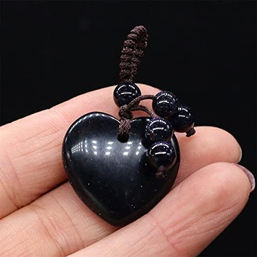 YANGYUE Colgantes de Piedra Natural en Forma de corazón, Cristales de ágatas, turquesas, jades, ópalo, encantos de Piedra para Hacer Joyas, Collar, Pulsera