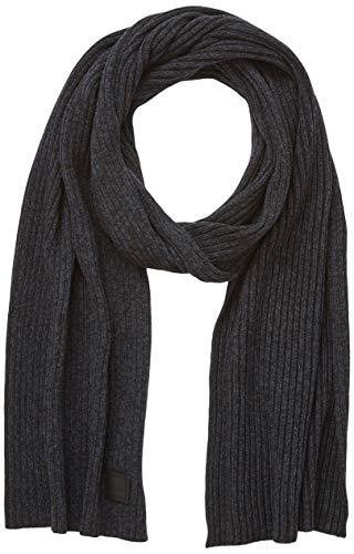 BOSS Herren Ariffeno Schal, Schwarz (Black 003), One Size (Herstellergröße: ONESI)