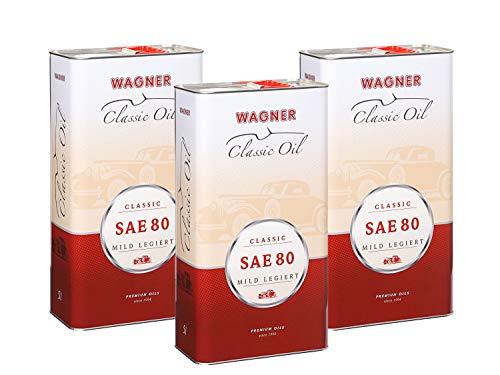 3X Wagner SPEZIALSCHMIERSTOFFE Classic Getriebeöl mild legiert Oldtimer SAE 80 5 L