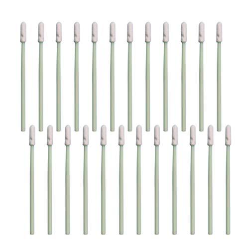 EXCEART 100 Stück Schaumreinigungstupfer Runde Reinigungstupferstifte Tintenstrahldrucker Schwammstabstange für Industrielle Druckkopfkamera Optische Linsenpistole Automobil