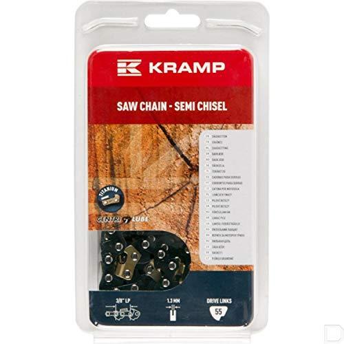 Cadena motosierra de 3/8 pulgadas 1,3 mm 55 DL semichisel, con diente de titanio Kramp