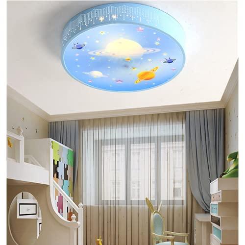 Plafón Para Niños Dormitorio Regulable Lámpara De Techo Para Habitación Infantil Luz Tricromática Planeta 50Cm Lámpara Acrílica De Acrílico De Moda De Dibujos Animados