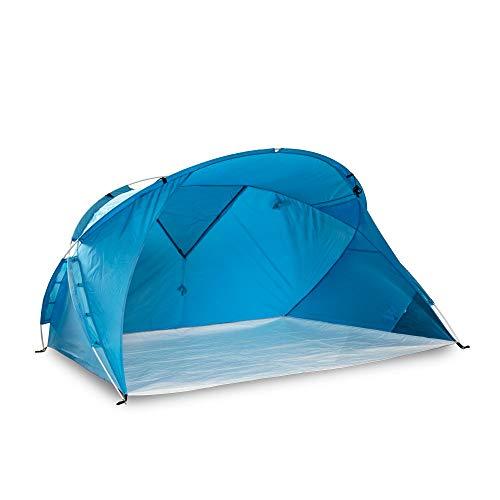 outdoorer große XXL Strandmuschel Santorin Air - großes Sonnenzelt, UV 80 Sonnenschutz, kleines Packmaß, windstabil, XXL Strandzelt mit Fenster