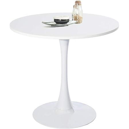 FURNITURE-R France Table à Manger Ronde Design en Bois, 80 * 75cm