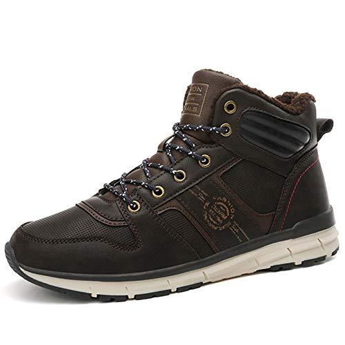 Q-YR Zapatos Deportivos para Hombres Zapatos De Algodón Caliente Y De Terciopelo Invierno Al Aire Libre Impermeable Antideslizante Antideslizante Resistente Al Frío Botas De Nieve,C,42