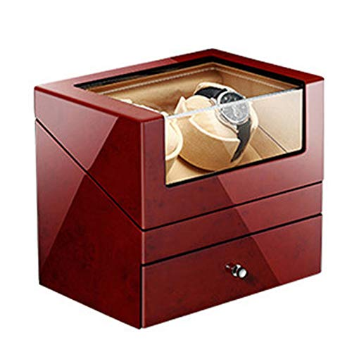 YZSHOUSE Soporte para reloj, con 5 modos de rotación, pantalla táctil inteligente, ajustes controlados de forma independiente, carcasa de madera, pintura para piano exterior (color marrón