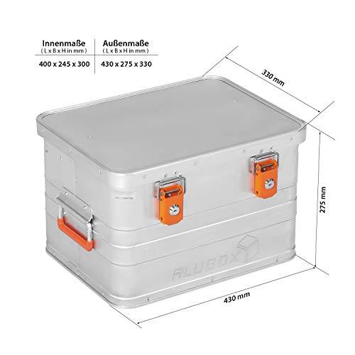 ALUBOX B29 - Aluminium Transportbox 29 Liter, abschließbar - 6