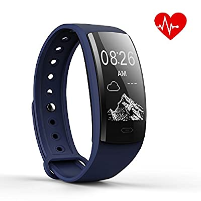 OSKE Fitness Tracker Smartwatch Smart Bracelet Blood Pressure Heart Rate Monitoring Waterproof Bluetooth Touch Screen Sports Pedometer Wear For IOS Android Smartphones(May 2018 New Arrival) by OSKE
