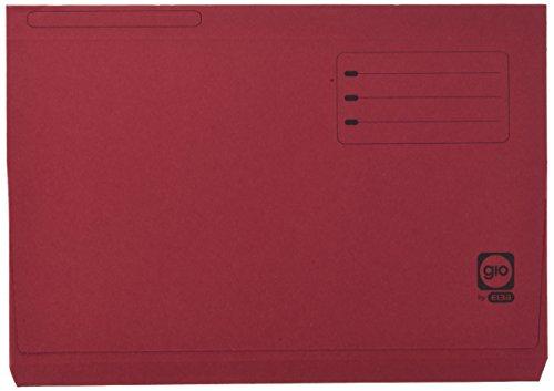 Elba Gio - Pack de 25 subcarpetas con bolsa y solapa, Fº, color burdeos