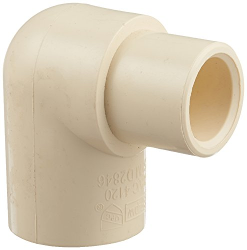 3/4-Inch by 1/2-Inch Solvent PXL CPVC Reducing 90 Elbow, Tan - King Brothers Inc. RCE-0705-S