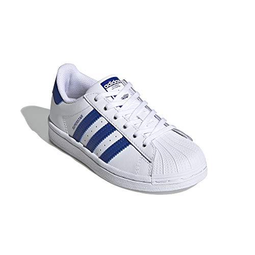 adidas Superstar C - Zapatillas deportivas para niños, color Blanco, talla 34 EU