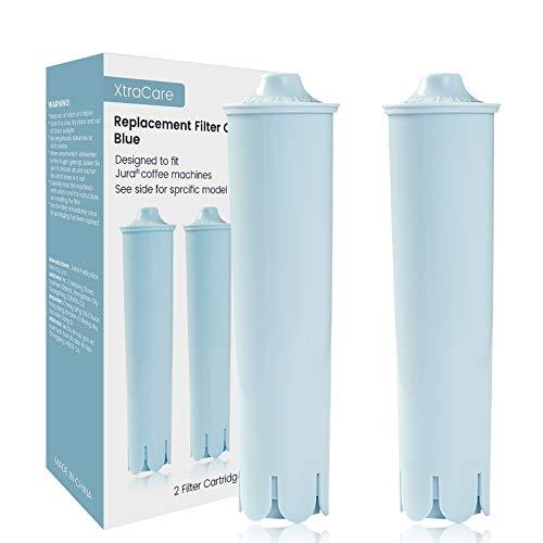 XtraCare Wasserfilter für Jura Claris Blue, Filterpatrone für Jura Kaffeevollautomaten, Kompatibel mit Jura ENA, Impressa, Giga (2er Pack)