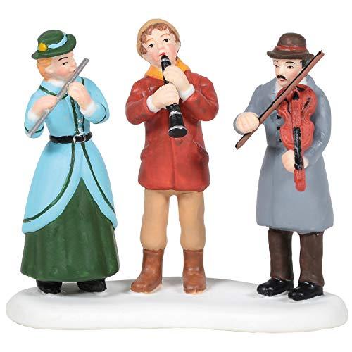 Department 56 Village Collection Accessories Christmas Sidewalk Concert Figurine, 2.48 Inch, Multicolor
