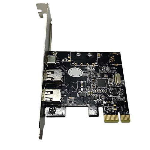 Nrpfell Firewire Karte, PCIe Firewire 800 für Win10,3 Ports IEEE 1394 PCI Express Controller Karte für Desktop PC Win 7
