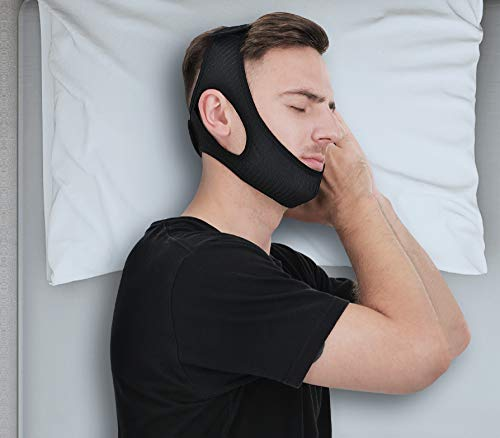 Anti Snore Chin Strap Men Women [Upgraded 2021], Vosaro Anti Snore Device Snoring Solution Effective Stop Snoring Head Band, Adjustable and Breathable Chin Strap for CPAP Users Sleep Aid, Large