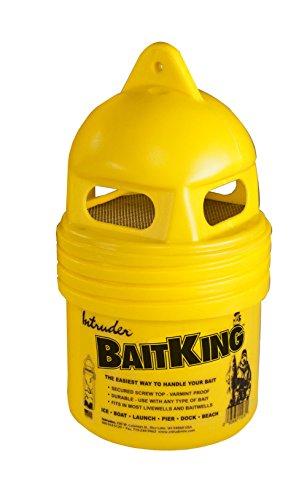 INTRUDER baitking, Live Köder Eimer, Verwenden Schleppen, schwimmend oder sogar EIS Angeln, abgeschirmtes Top, klein, 27,9cm x 15,8cm