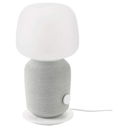 Lámpara SYMFONISK IKEA Lámpara de mesa con caja WiFi, blanco
