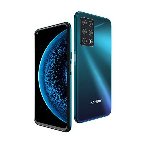 HAFURY GT20 Smartphone ohne vertrag Android 10 Handy mit 6GB + 128GB, 6.4 Zoll FHD Punch Hole Bildschirm, AI Fünf Kamera, 4200mAh großer Akuu, Schnellladen, Global Version, Glasrückseite-Twilight