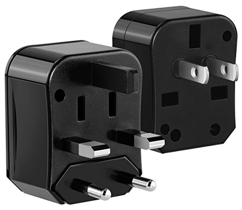 mumbi Universal Reiseadapter kompakter Reise Adapterstecker für USA, China, Japan, Kanada, Australien, UK