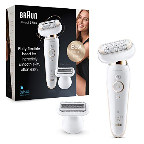 Braun Silk-épil 9 Flex 9-002, Epilator with Flexible Head, Anti-Slip Grip...