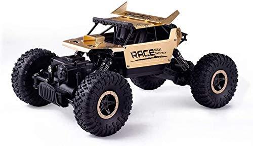 Wghz Coche RC de aleación Todoterreno de Escalada de Alta Velocidad 1/18, 4WD Drifting Off-Road Bigfoot Monster RC Truck, Buggy RC de Carga USB de Doble Motor, Regalo de cumpleaños para niños con