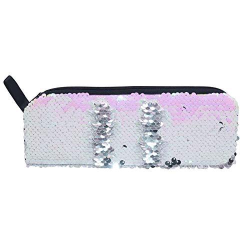 Estuche de lápices de lentejuelas Flash Magic Sequin Pen Bag Útiles escolares Bolsos de niña Misceláneas Bolsa de cosméticos Bolsa multifunción A
