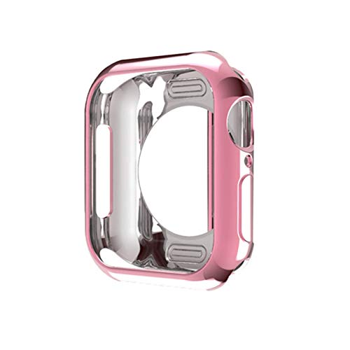 TPU marco caso para Apple Watch caso 40mm 44mm 38mm 42mm serie 5 4 3 2 1 cubierta protectora parachoques para IWatch bandas Shell