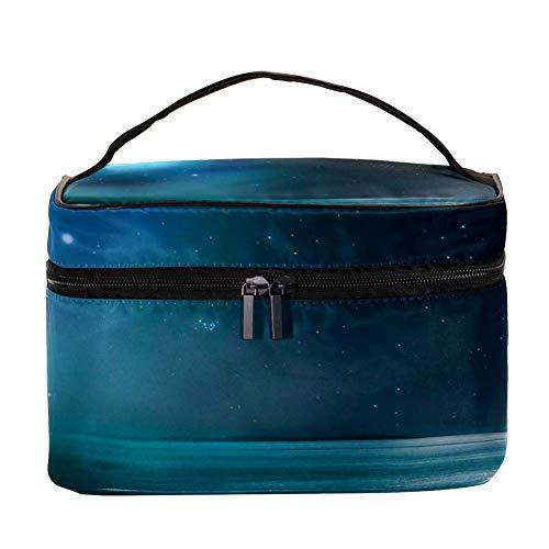 EZIOLY Night Star and Wave Accessoires de voyage portables avec poche en maille pour maquillage et cosmétiques