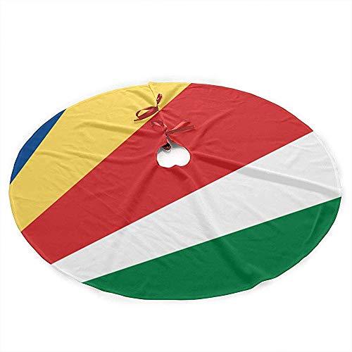 Winter-South vlag Seychelles kerstboom rok mat decoratie kerstfeest