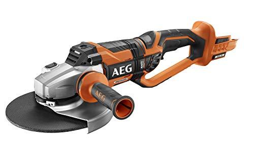 AEG BEWS18-230BL-0 Akku-Winkelschleifer, 18 V, mit 230 mm Scheibendurchmesser, mit Überlastschutz, ohne Akku-BEWS18-230BL-0