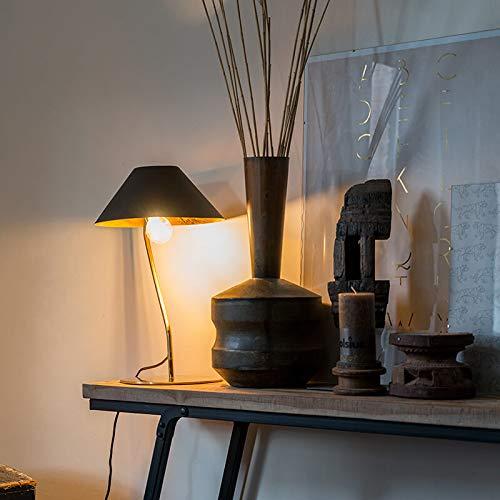 Qazqa Lampe de table | Lampe à poser Art Deco - Knick Lampe Doré Noir - E27 - Convient pour LED - 1 x 15 Watt