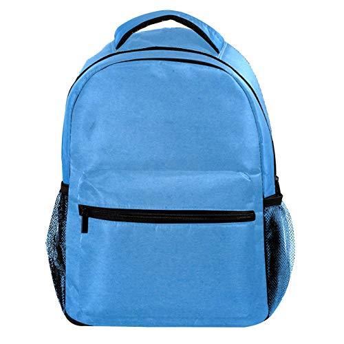 Light Blue Texture Laptop Backpack for Men School Bookbag Travel Rucksack Daypack School Bag for Women Girls