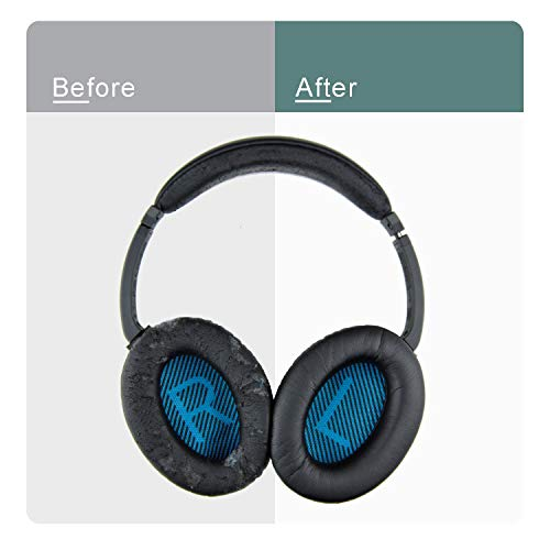 JahyShow Replacement Ear Pads Leather Earpad Earpads Cushions for Bose Triport TP-1 TP-1A Around Ear AE1 Headphones Headphone Headset 1Pair Black