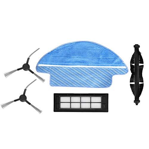 Duokon Accessoires de Machine de Balayage Rouleau Brosse Filtre latéral Brosse Filtre Maille Filtre Tissu Pièces de Machine de Balayage Convient pour Proscenic LDS-M6 R2