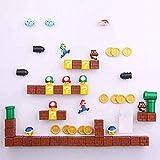 RichAmazon 3D lindo Super Mario resina imanes de nevera juguetes para niños decoración del hogar adornos estatuillas pared Mario imán balas ladrillos - 63 combinaciones