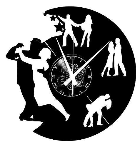 Instant Karma Clocks - Reloj de Pared de Vinilo, par de Bailarinas, Danza, Tango, walzer, Hombre y Mujer